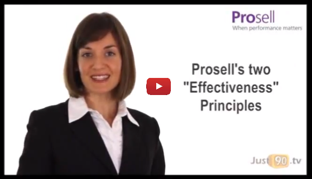 Prosell's Two Effectiveness Principles